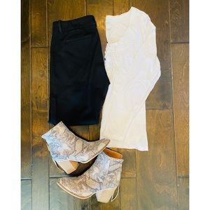 Cynthia Rowley Black Crop Pants | Size 4